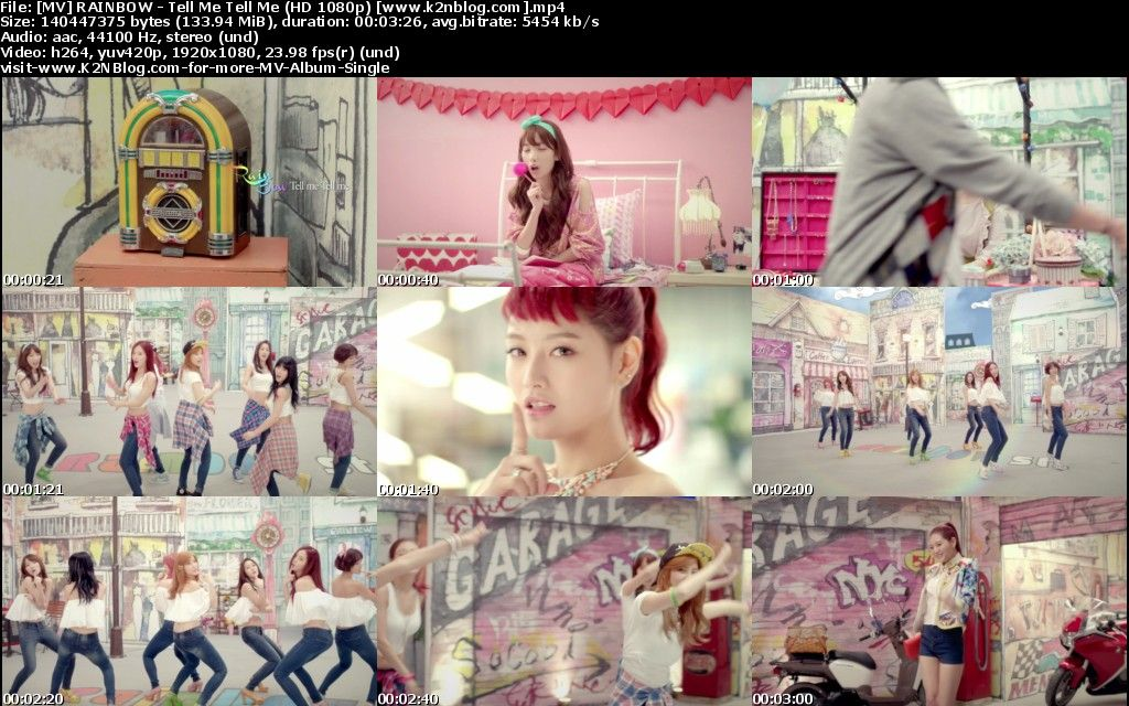 [MV] RAINBOW   Tell Me Tell Me (HD 1080p Youtube)